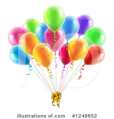 Party Balloons Clipart #1248652 by AtStockIllustration