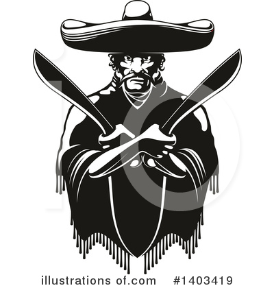 Royalty-Free (RF) Bandit Clipart Illustration by Vector Tradition SM - Stock Sample #1403419