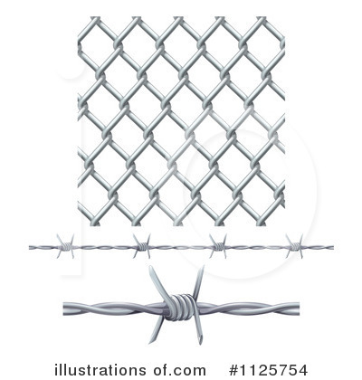 Barbed Wire Clipart #1125754 - Illustration by AtStockIllustration