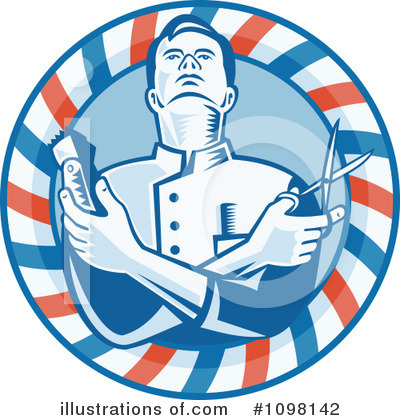 Royalty-Free (RF) Barber Clipart Illustration by patrimonio - Stock Sample #1098142