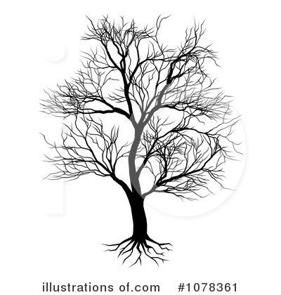 Bare Tree Clipart 1078361 Illustration By Atstockillustration