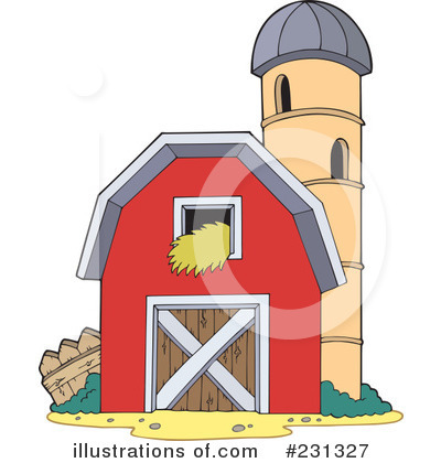 Royalty Free RF Barn Clipart Illustration 231327 By Visekart