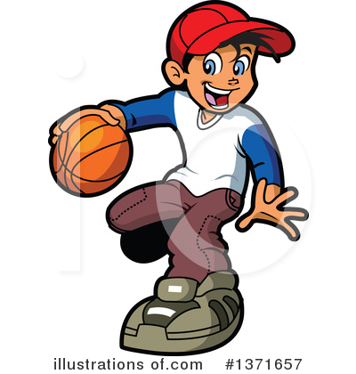 Basketball Clipart #1371657 - Illustration by Clip Art Mascots