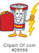 Battery Character Clipart #28068 by Toons4Biz