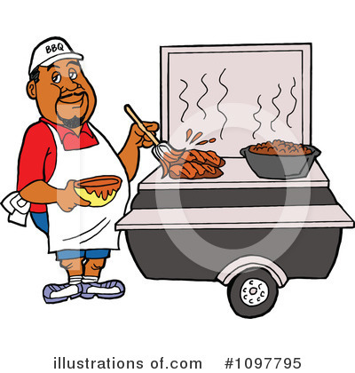 Royalty-Free (RF) Bbq Clipart Illustration by LaffToon - Stock Sample #1097795