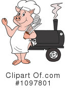 Bbq Clipart #1097801 by LaffToon