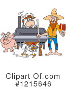 Bbq Clipart #1215646 by LaffToon