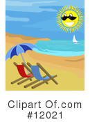 Beach Clipart #12021 by AtStockIllustration