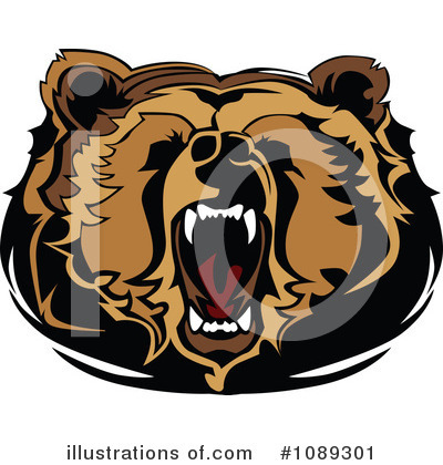Bear Clipart #1089301 by Chromaco
