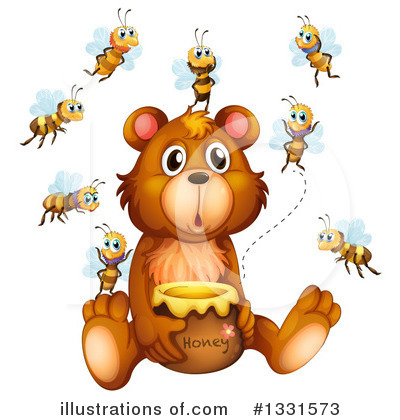 Royalty-Free (RF) Bear Clipart Illustration by Graphics RF - Stock Sample #1331573