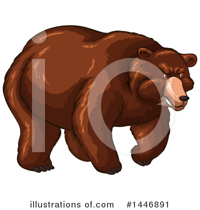 Bear Clipart #1446891 by Graphics RF