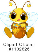 Bee Clipart #1102826 by Pushkin