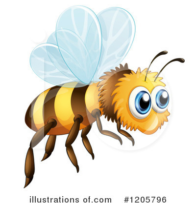 Bee Clipart #1205796 by Graphics RF