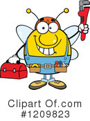 Bee Clipart #1209823 by Hit Toon