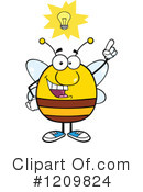 Bee Clipart #1209824 by Hit Toon