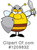 Bee Clipart #1209832 by Hit Toon