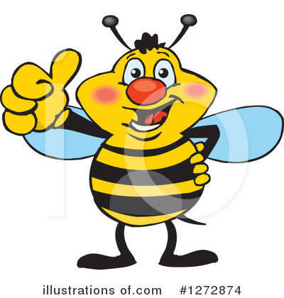 Bee Clipart #1272874 by Dennis Holmes Designs