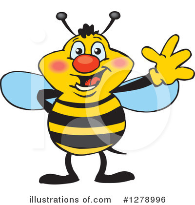 Royalty-Free (RF) Bee Clipart Illustration by Dennis Holmes Designs - Stock Sample #1278996