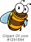 Bee Clipart #1291584 by Vector Tradition SM