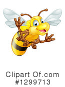 Bee Clipart #1299713 by AtStockIllustration