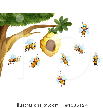 Royalty-Free (RF) Bee Clipart Illustration by Graphics RF - Stock Sample #1335124