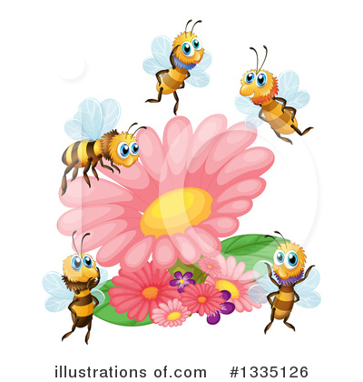 Bee Clipart #1335126 by Graphics RF