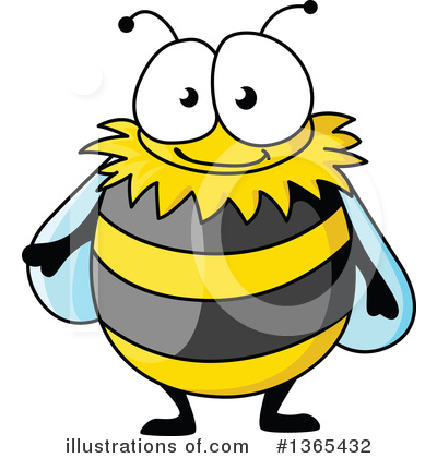 Bee Clipart #1365432 by Vector Tradition SM