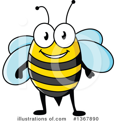 Bee Clipart #1367890 by Vector Tradition SM