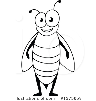 Bee Clipart #1375659 by Vector Tradition SM
