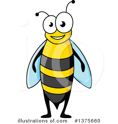 Bee Clipart #1375660 by Vector Tradition SM