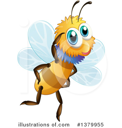 Bee Clipart #1379955 by Graphics RF