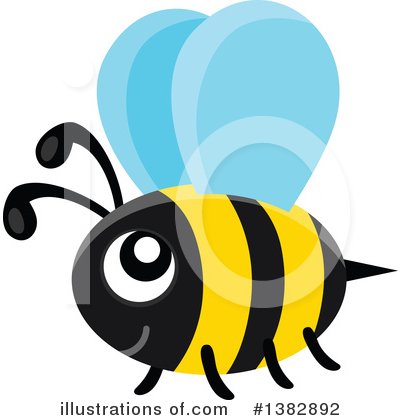 Bee Clipart #1382892 by visekart