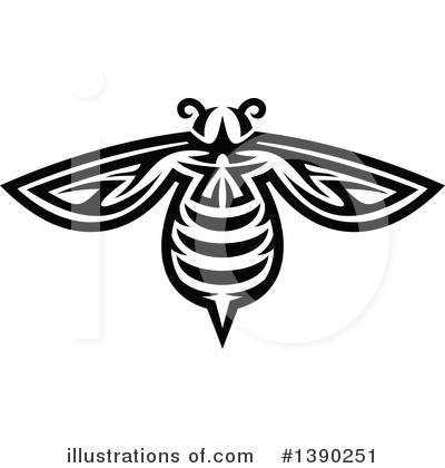 Bee Clipart #1390251 by Vector Tradition SM