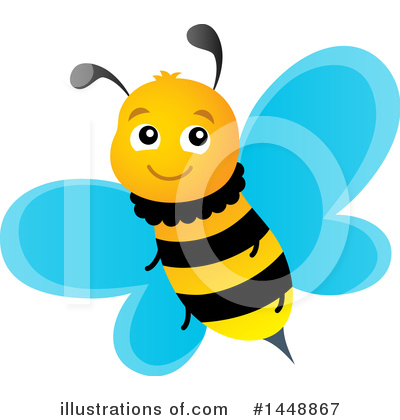 Bee Clipart #1448867 by visekart