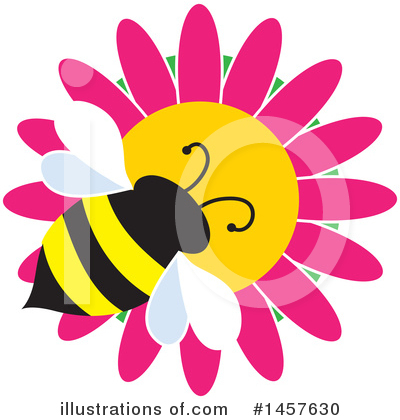Bee Clipart #1457630 by Maria Bell