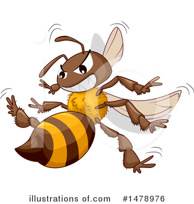 Bee Clipart #1478976 by BNP Design Studio