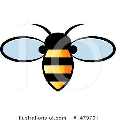 Bee Clipart #1479791 by Lal Perera