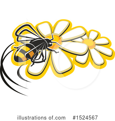 Royalty-Free (RF) Bee Clipart Illustration by Vector Tradition SM - Stock Sample #1524567