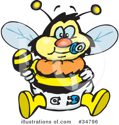 Bee Clipart #34796 by Dennis Holmes Designs