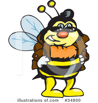 Bee Clipart #34800 by Dennis Holmes Designs