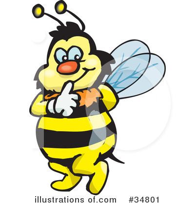 Bee Clipart #34801 by Dennis Holmes Designs