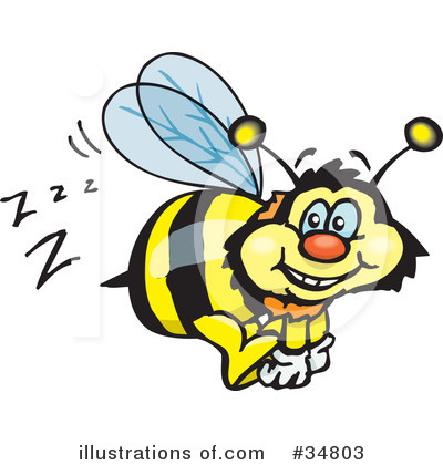 Bee Clipart #34803 by Dennis Holmes Designs