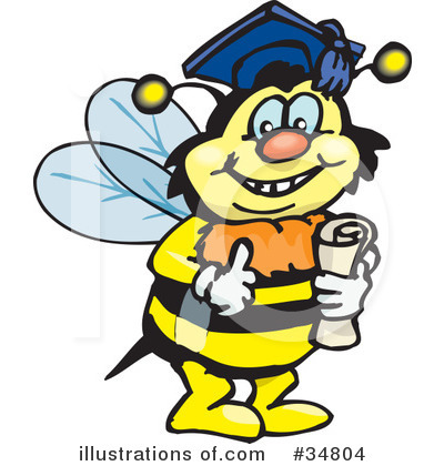Bee Clipart #34804 by Dennis Holmes Designs