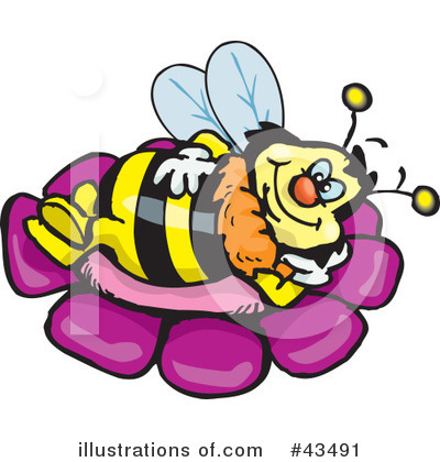 Bee Clipart #43491 by Dennis Holmes Designs