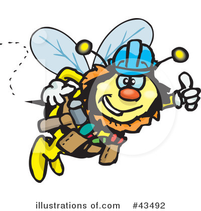 Bee Clipart #43492 by Dennis Holmes Designs