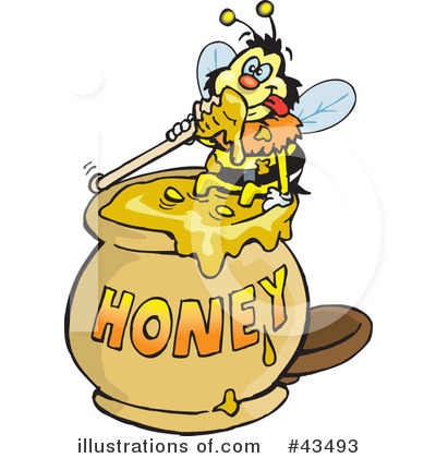 Bee Clipart #43493 by Dennis Holmes Designs