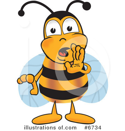 Bee Clipart #6734 by Toons4Biz
