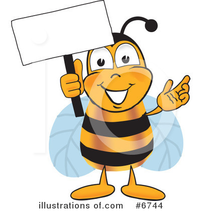 Bee Clipart #6744 by Toons4Biz