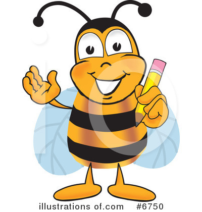 Bee Clipart #6750 by Toons4Biz