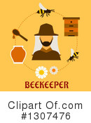 Beekeeper Clipart #1307476 by Vector Tradition SM